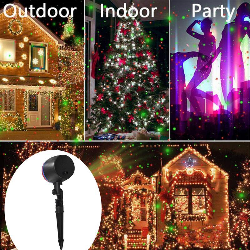 New Outdoor Laser Projector Sky Star Spotlight Showers DJ Disco Lights R&G Garden Lawn Christmas Party Waterproof Laser