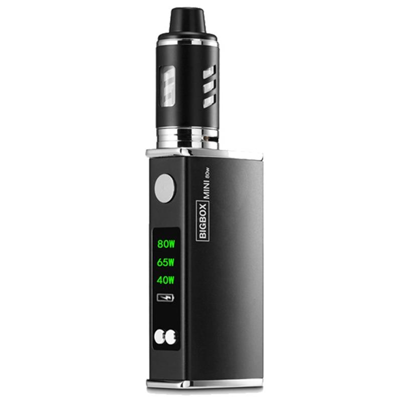 Promotion! 80W Adjustable vape mod box kit 2200mah 0.3ohm 3ml tank e-cigarette Big smoke atomizer vaper black