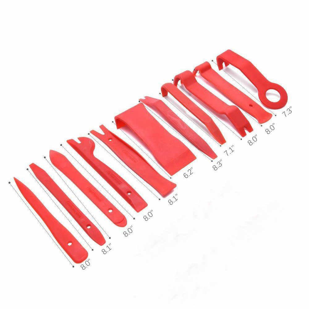 11 pçs/set Painel de Áudio Ferramenta De Remoção Da Guarnição de Plástico Porta Do Carro Moldagem Set Bolsa Kit Ferramenta de Alavanca Aberto Interior Auto Mão ferramentas Novo