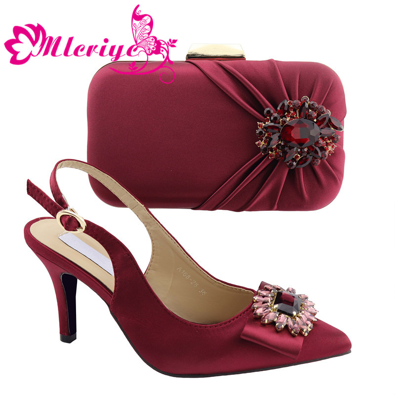 a168-28 wine High Heels Italian Women Pumps with Purse African Shoes and Bags Matching Set Nigerian Shoes and Matching Bagsa168-28 wine High Heels Italian Women Pumps with Purse African Shoes and Bags Matching Set Nigerian Shoes and Matching Bags
