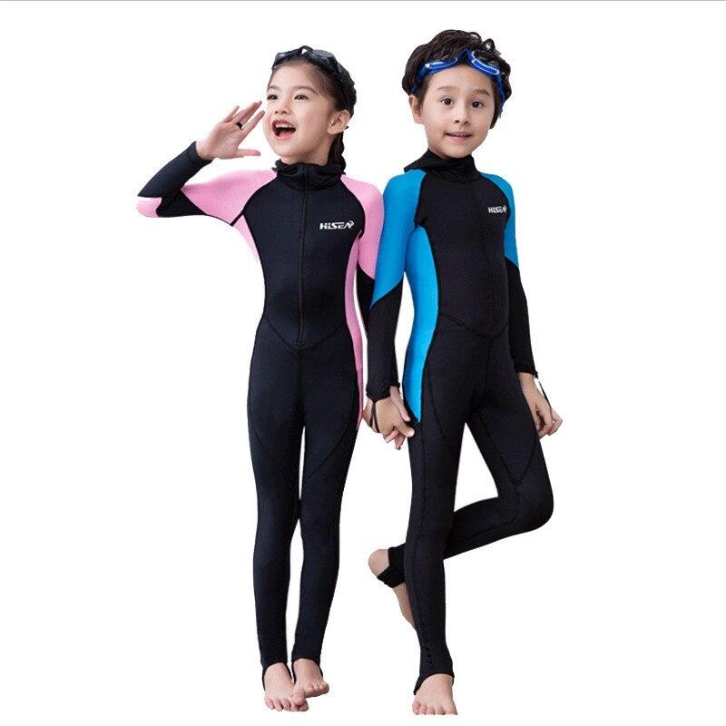 New Arrivals Wetsuits Kids Long Sleeves Snorkeling Diving Suit Children Wet Suits Swimwear Kids Wetsuit Bathing Suit