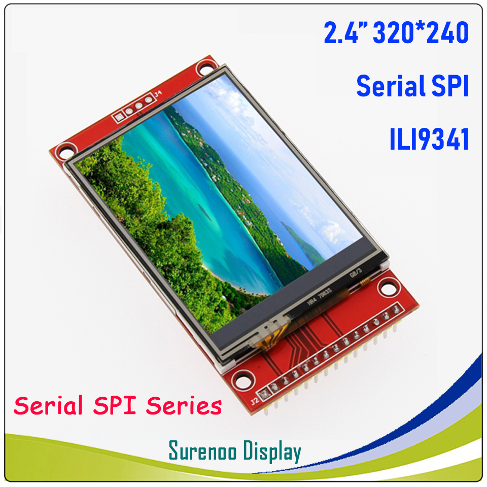 2.4 Inch 320*240 SPI Serial TFT LCD Module Display Screen With Touch Panel Driver IC ILI9341 For MCU