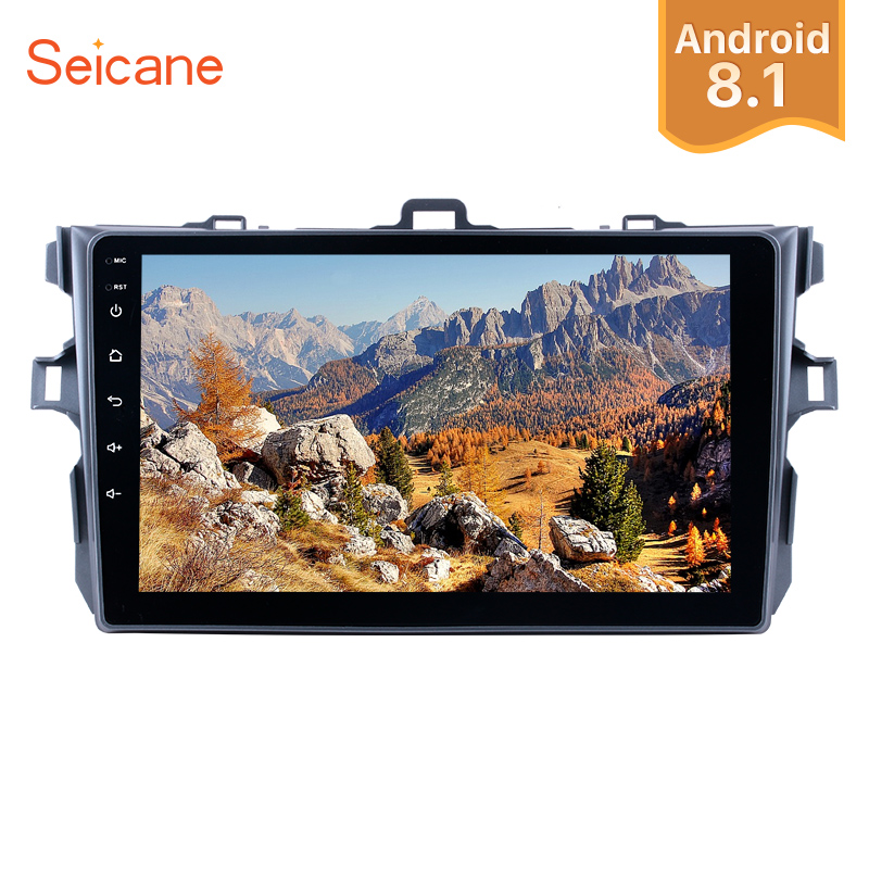Seicane Android 8.1 9 2Din Car Radio For Toyota Corolla 2006 2007 2008 2009 2010 2011 2012 GPS Multimedia Player Support Wifi