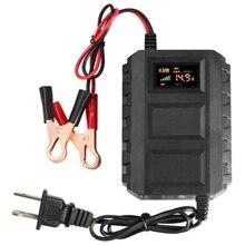US Plug 12V Intelligent font b Battery b font Charger Led Digital Display Fast 20A Lead