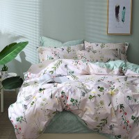 TUTUBIRD leaf print floral bedding set bed linen duvet cover kids adult brief style princess home textile bedclothes bedspread