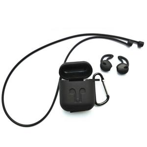 Image 2 - Silicone Soft Protective Case Wireless Bluetooth Earphones Cover Lanyard Anti drop Dust proof Portable Mini Bag For Airpods