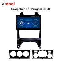 9 INCH Android 8.1 GPS navigation Car DVD Player for Peugeot 3008 2009 2010-2015 With Bluetooth WiFi