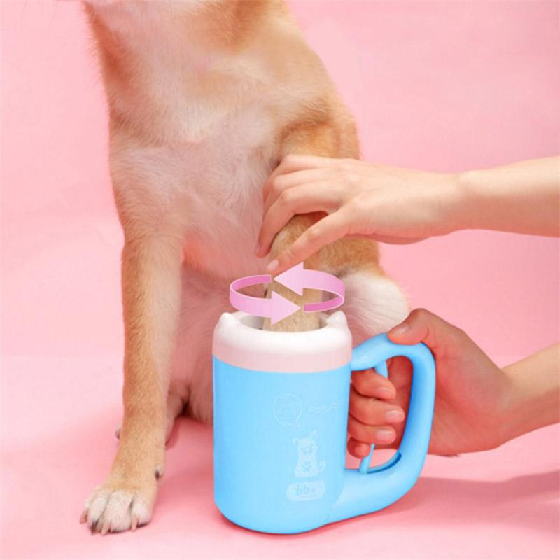 Dog Paw Cleaner Cup Soft Silicone Combs Portable Outdoor font b Pet b font Foot Washer