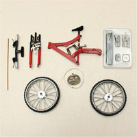 Simulation Mini DIY Bike Model Alloy Mountain/Road Bicycle Set Decoration Gift Model Toys For children Boy Toy Collection