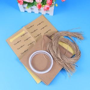 Image 5 - 50/100 stücke DIY Kraft Papier Kegel Candy Boxen Roman Kreative Eis Blume Halter Kraft Papier für Hochzeit party Geschenke Crafting