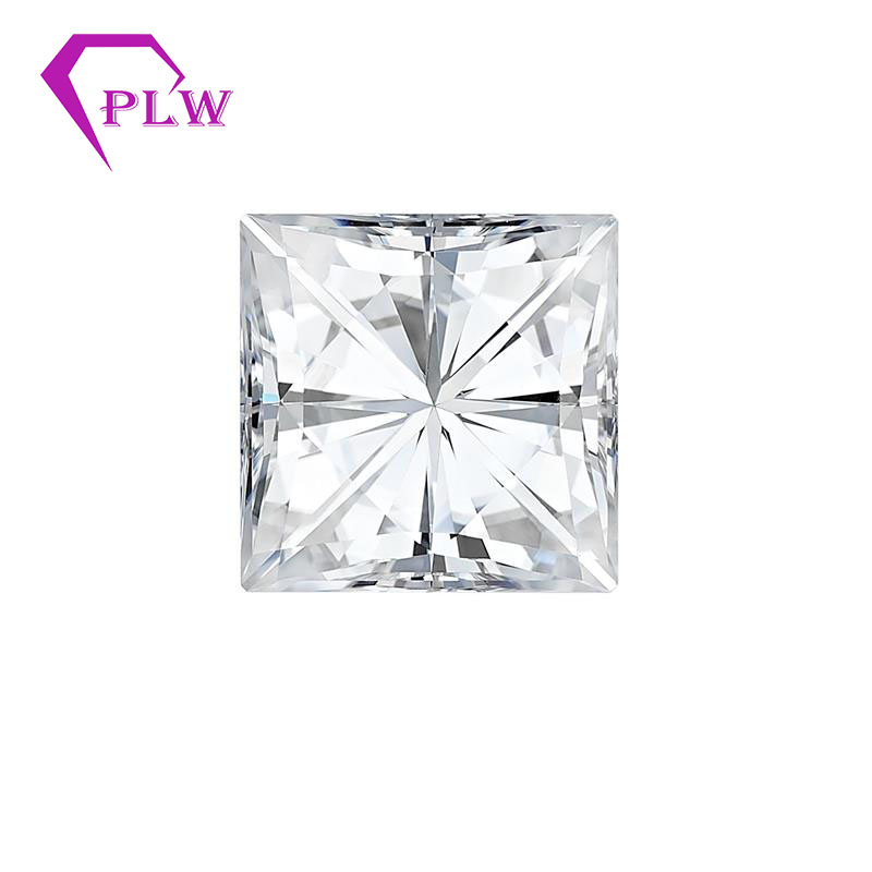 Provence jewelry princess cut 0.35 carat 3.5*3.5mm  VVS 3 excellent D color moissanite for ring bracelet necklace earringProvence jewelry princess cut 0.35 carat 3.5*3.5mm  VVS 3 excellent D color moissanite for ring bracelet necklace earring
