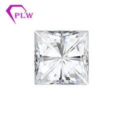 Прованс кольцо с голубым кристаллом 0,35 карат 3,5*3,5 мм VVS 3 отлично D Цвет Муассанит для кольцо браслет ожерелье серьги