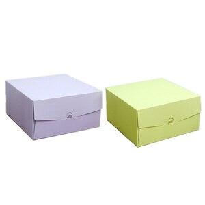 Image 5 - 2017 جديد لون الخبز صندوق 6 بوصة 21x21x15 سنتيمتر 8 بوصة 26x26x15 سنتيمتر 10 بوصة 12 بوصة تنقش عيد ميلاد كعكة المعجنات هدية صندوق