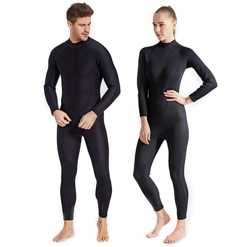 2MM Couple Style One piece Diving Suit Thickened Warm Long sleeved Cold proof Scratch proof Surfing Swimming Wading Wetsuit