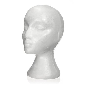 27.5 x 52cm Dummy / mannequin head Female Foam(Polystyrene) Exhibitor for cap, headphones, hair accessories and wigs Wom