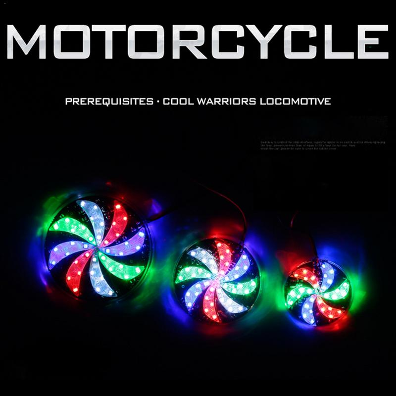 Motorcycle Modified Wind Fire Wheel Lights Flashers Motorcycle Accessories And It Can Be Connected To The Fog Light In Front