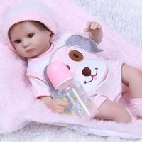 NPK Reborn Doll Realistic Soft Silicone Reborn Baby Dolls Vinyl Toys Big Dolls For Girlls Baby Birthday Dolls With Blouse Cloth