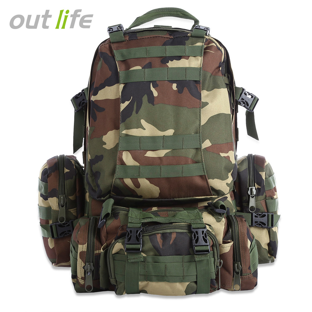 Picnic Bags Outdoor Militarytactic Bag Nylon Waterproof Waist Bag Camouflage Sports Bags For Camping Hiking Molle Tactic Shoulder Bag Camping & Hiking