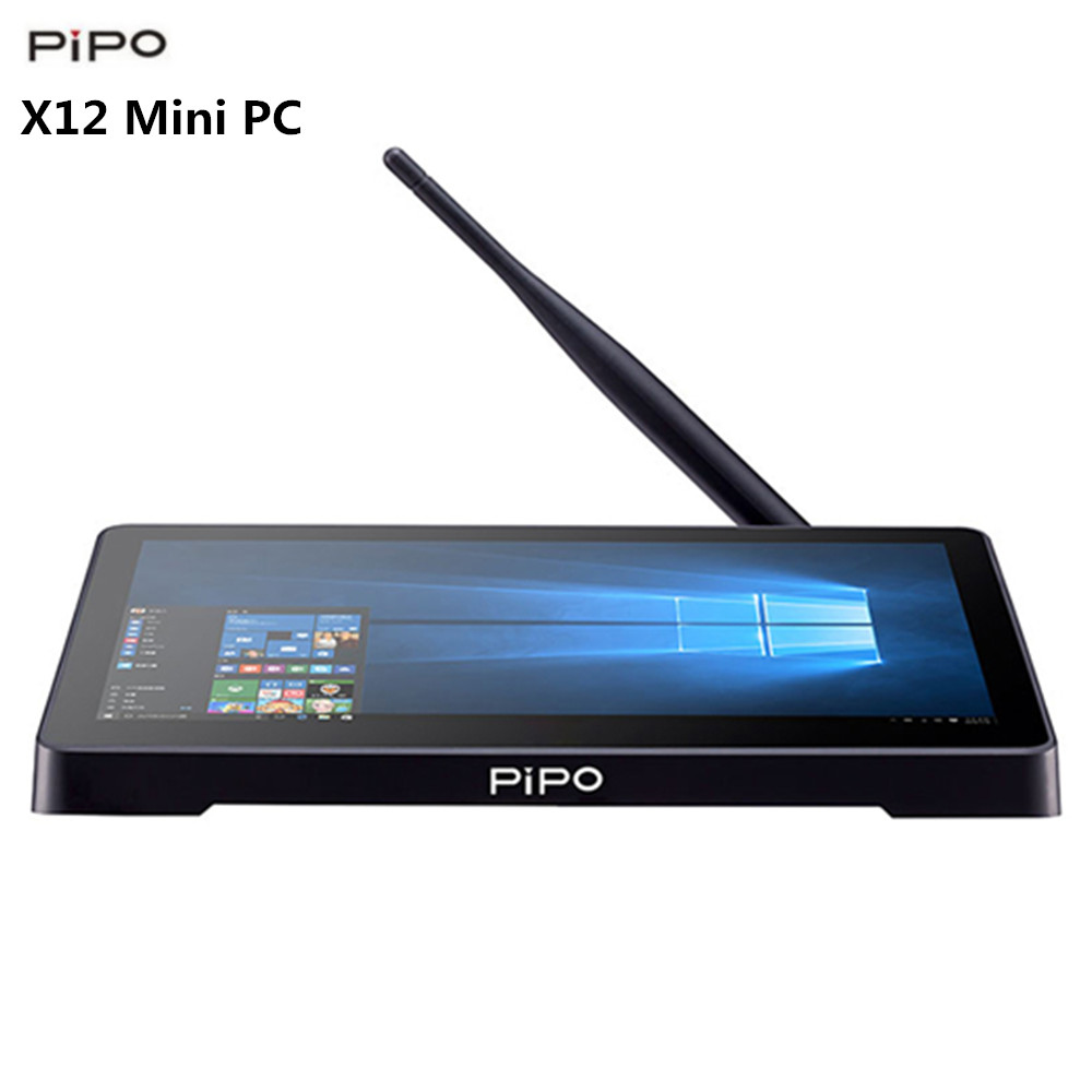 PIPO X12 Mini PC 4 GB 64 GB multifonction utilisation imprimante Mini PC 1920 x 1280IPS 2.4 GHz + 5.8 GHz WiFi 1000 Mbps BT4.0 TV Box Support 4 K