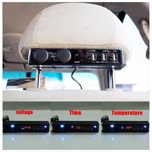 5 в 1.5A 1.5A 3A многофункциональное автомобильное зарядное устройство для заднего сиденья автомобиля время на заднее сиденье дисплей температуры Вольт Авто электрический аксессуар