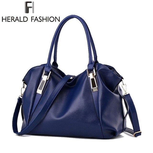 ヘラルドファッションデザイナーの女性のハンドバッグ女性のpuレザーバッグハンドバッグレディースポータブルショルダーバッグオフィス女性ホーボーバッグトートバッグ