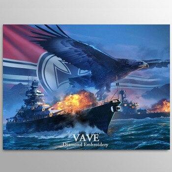 VAVE diamante pintura Cruz puntada águila barco completo cuadrado imagen de diamantes de imitación DIY mosaico pintura diamante bordado venta