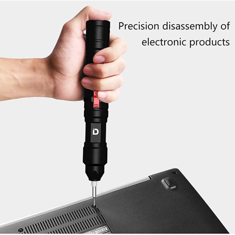 Xiaodong X2 мини умная электрическая отвертка перезаряжаемая Беспроводная электрическая отвертка со светодиодной подсветкой для дома DIY Инструменты