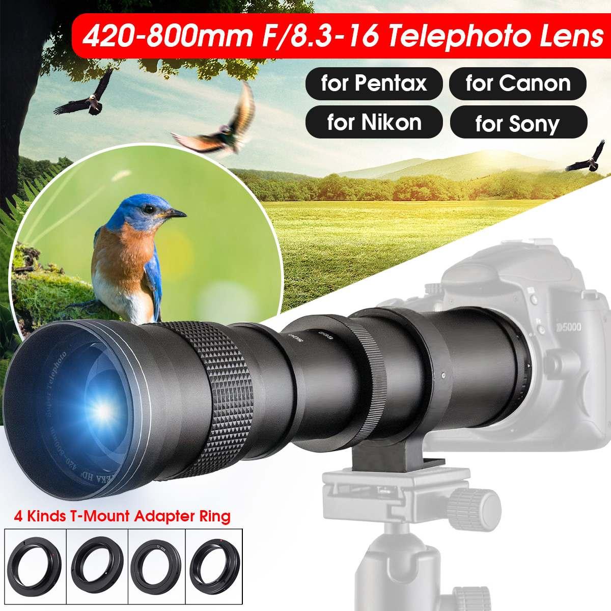 420-800mm F/8.3-16 Super téléobjectif objectif Zoom manuel pour Canon pour appareil photo reflex numérique Nikon/Sony/Pentax