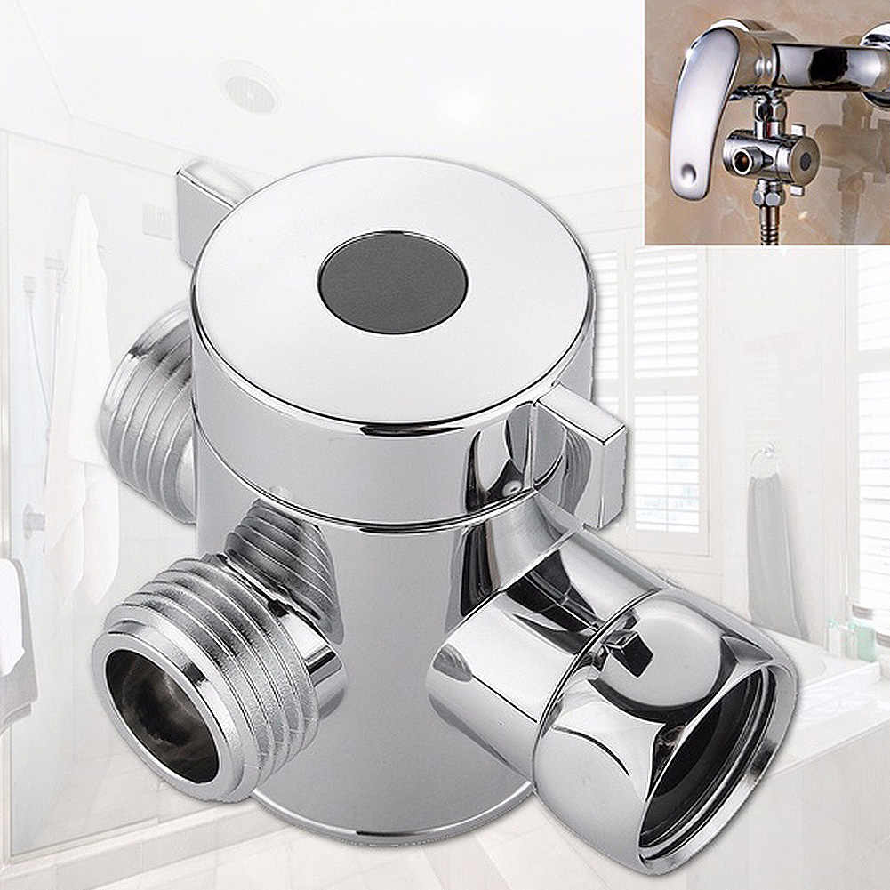"Bathroom G1/2"" Shower  Diverter  Tap 3-way M/F Adapter Splitter"