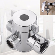 Bathroom G1/2 Shower  Diverter  Tap 3-way M/F Adapter Splitter g1 2 in g1 4 out 6 way pneumatic air solid aluminum manifold block splitter