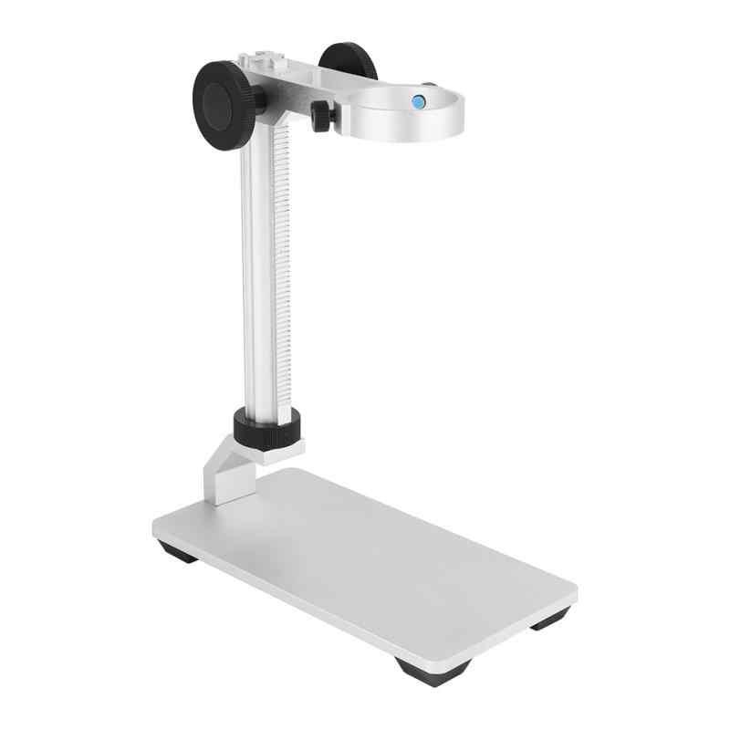 Кронштейн держатель из алюминиевого сплава Кронштейн микроскопа USB цифровые электронные настольные микроскопы Регулируемая подъемная поддержка