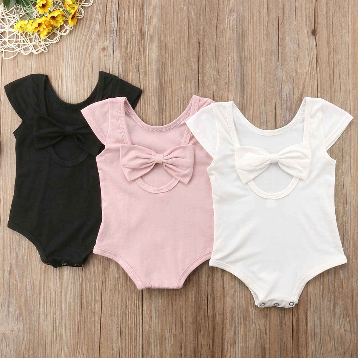 2019 Baby Meisjes Baby Strik Jumpsuit Playsuit Sunsuit Outfits