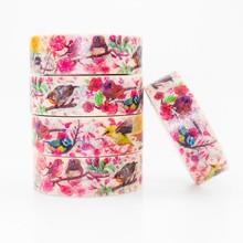 A Hundred Birds Contend Washi masking tape sticky color decorative set DIY decoration office stationery scrapbook 1PCS