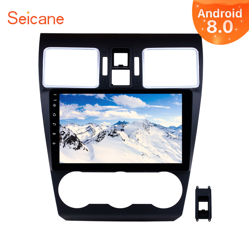 Seicane Android 8.0 9 pouce 2Din Voiture Radio Stéréo Audio Multimédia Lecteur GPS Unité de Tête Pour 2014 2015 2016 Subaru WRX forester