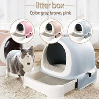Кошачий ящик для мусора бассейна ящик стиль Туалет для домашних животных изоляции запаха полностью закрытый гигиены дезодорант Extra Large горш
