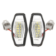 цена на 2Pcs/Set Canbus Error Free White 18SMD LED Number License Plate Lights For Honda Civic Accord Acura TL TSX MDX