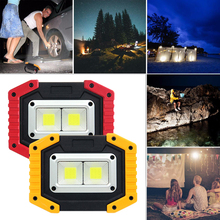 30W Square USB Rechargeable COB LED Flood Light Spot Work Power Bank IP65 waterproof Fishing Hiking Emergency Car Repair Lamp powerful 4 lighting modes ip65 waterproof emergency led work lamp 100w portable rechargeable led flood light