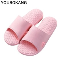 Summer Women Home Slippers Message Indoor Bathroom Unisex For Lovers Soft Non-slip Couple Shoes 2019 Female Sandals