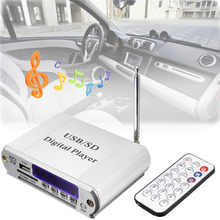 Mini MP3 USB SD Digital Player FM Radio Remote Control LED Display Headphone Digital Auto Car Power Amplifier with Remote(China)
