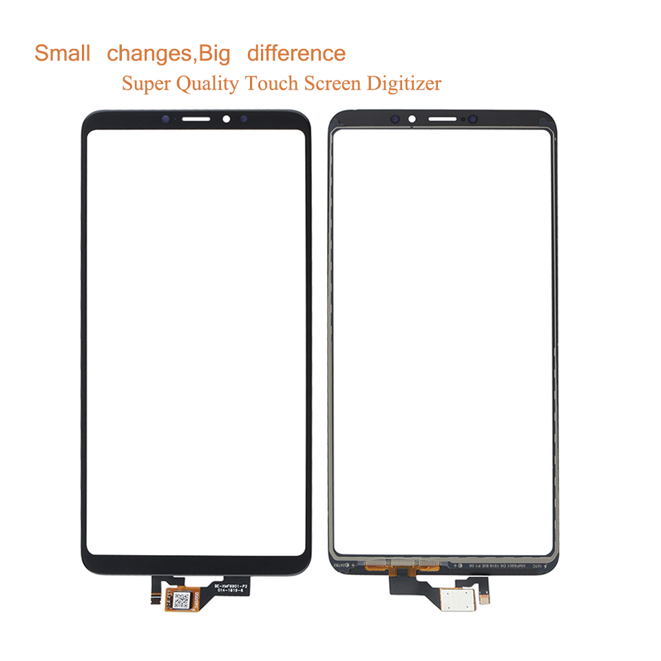 10Pcs lot ORIGINAL For Xiaomi Mi Max 3 MiMax3 Max3 Touch Screen Digitizer Touch Panel Sensor Front Outer Glass MAX 3 Touchscreen in Mobile Phone Touch Panel from Cellphones Telecommunications