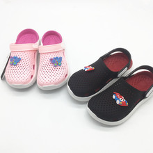 BEST BOYS GIRLS JELLY PVC SHOES CHILDREN CROC SHOE SLIPPERS MASSAGE FOOTBED TPU