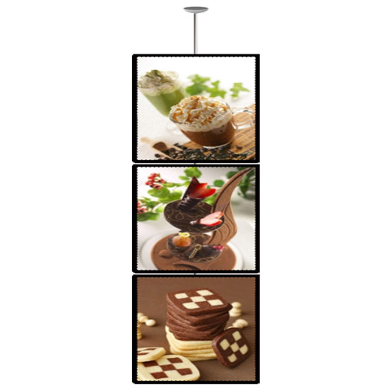 (3unit/column) A3 Single Sided Ceiling Hanging Poster Display Light Box ,suspended Led Light Boxes