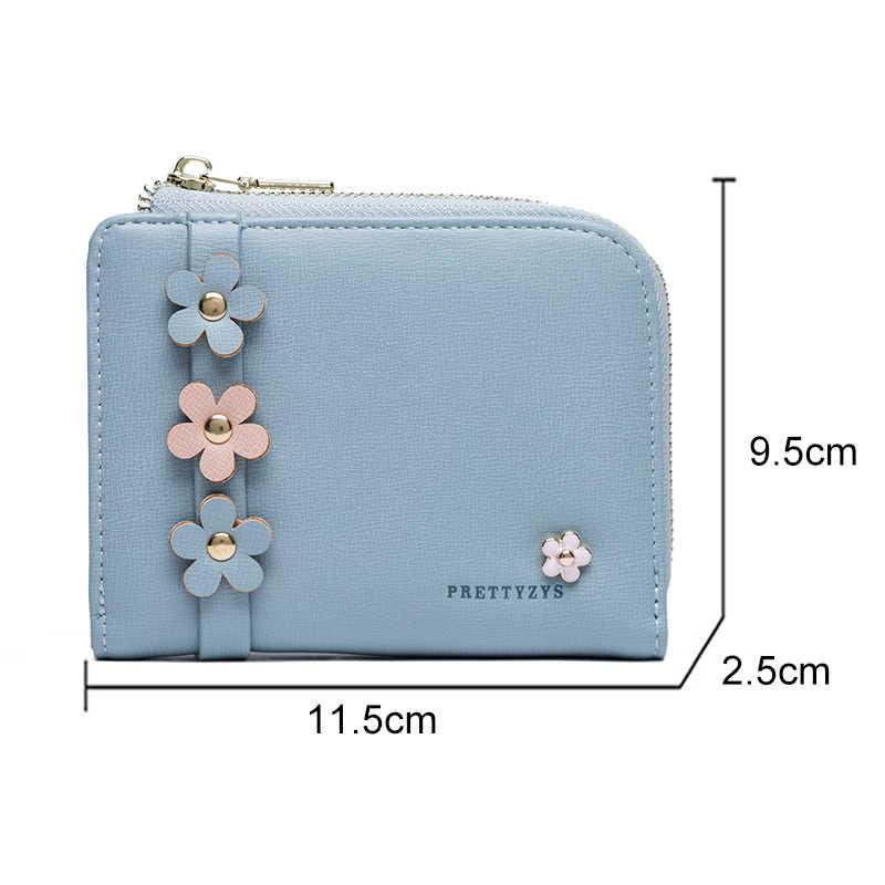 Элегантные кошельки с цветочным дизайном женские модные короткие бумажник из искусственной кожи повседневные кошелек портмоне на молнии женский кошелек