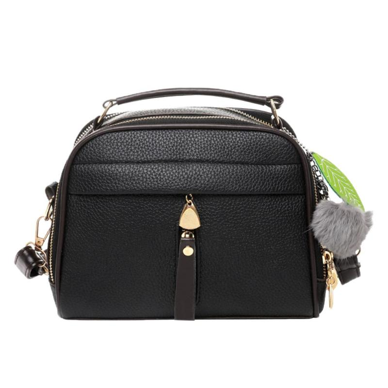 Women Crossbody Messenger Shoulder Bag PU Leather Leaf Satchel Sling Bags