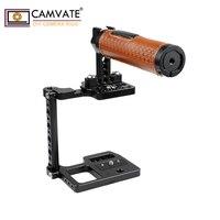 CAMVATE BMPCC 4 K клетка для камеры с кожаной верхней ручкой и креплением для обуви C1931