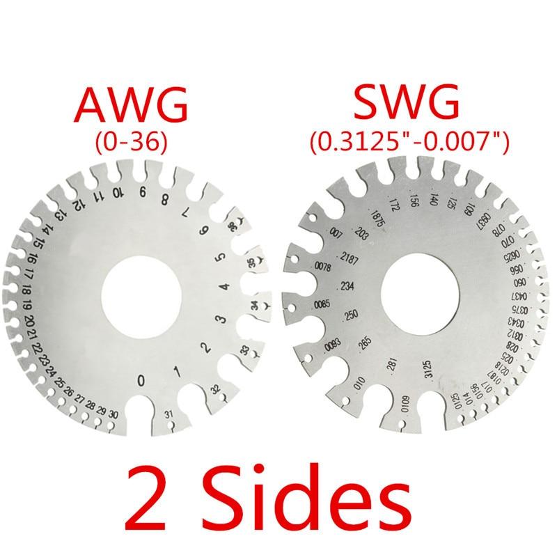 1 Stücke Zeast Edelstahl Runde Draht Dicke Messung Gauge Durchmesser Gage Werkzeuge Mit Tasche Beliebte Kosten-effektive Schrumpffrei