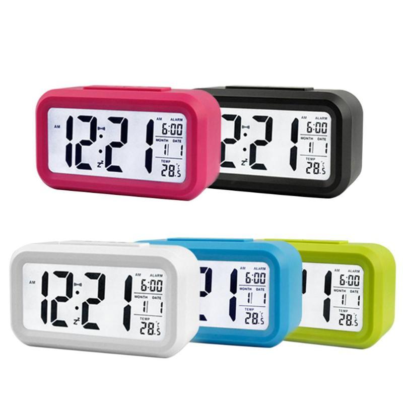 Reloj electrónico para el hogar, reloj despertador Digital electrónico, alarma de temperatura, silencio, regalo, decoración para el hogar, habitación