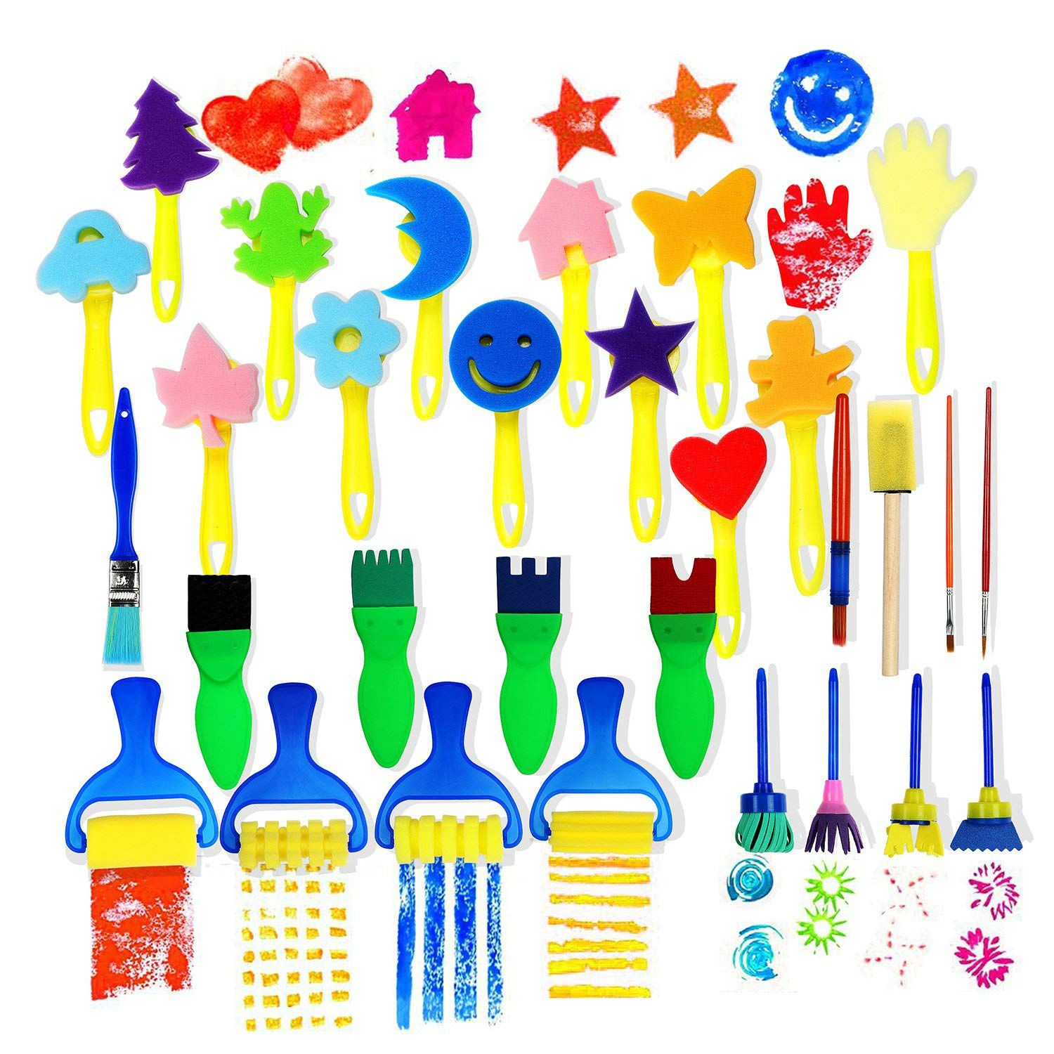 30pcs Children Sponge Paint Brushes Drawing Tools for Children Early Painting Arts Crafts DIY30pcs Children Sponge Paint Brushes Drawing Tools for Children Early Painting Arts Crafts DIY