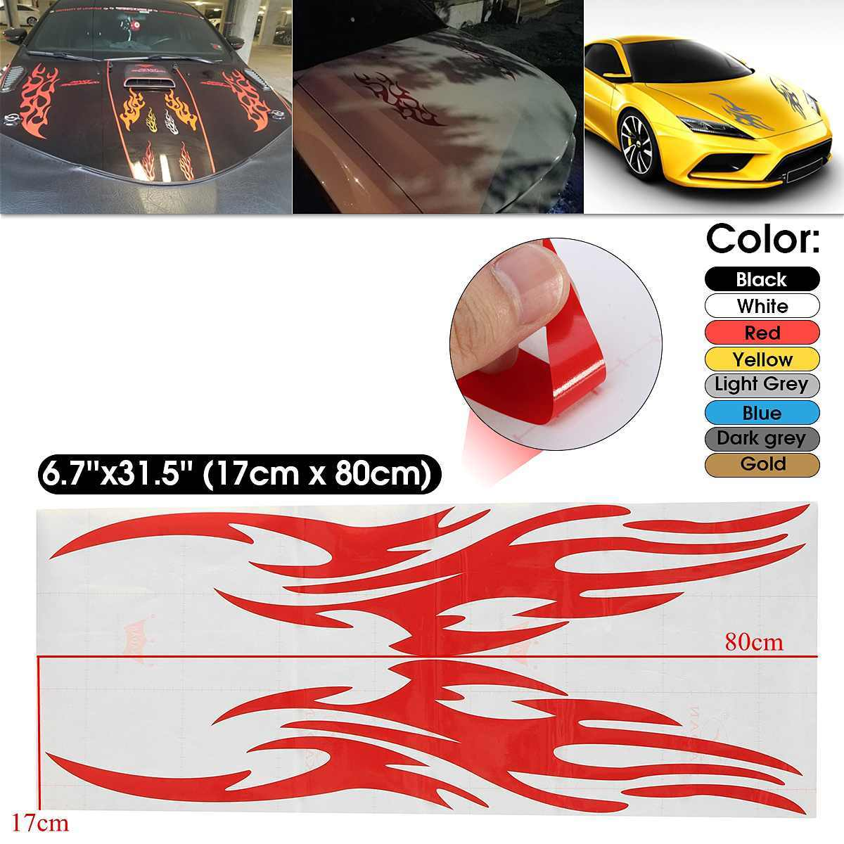 80X17 Cm Universal Mobil Motor Auto Sepeda Balap Hood Decals Vinyl Grafis Stiker
