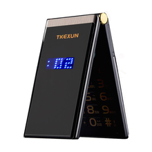 TKEXUN Flip Touch HandwritingScreen 3.0 Display Telephone Speed DialSOS Metal Body Senior Not Smart Mobile Cell Phone